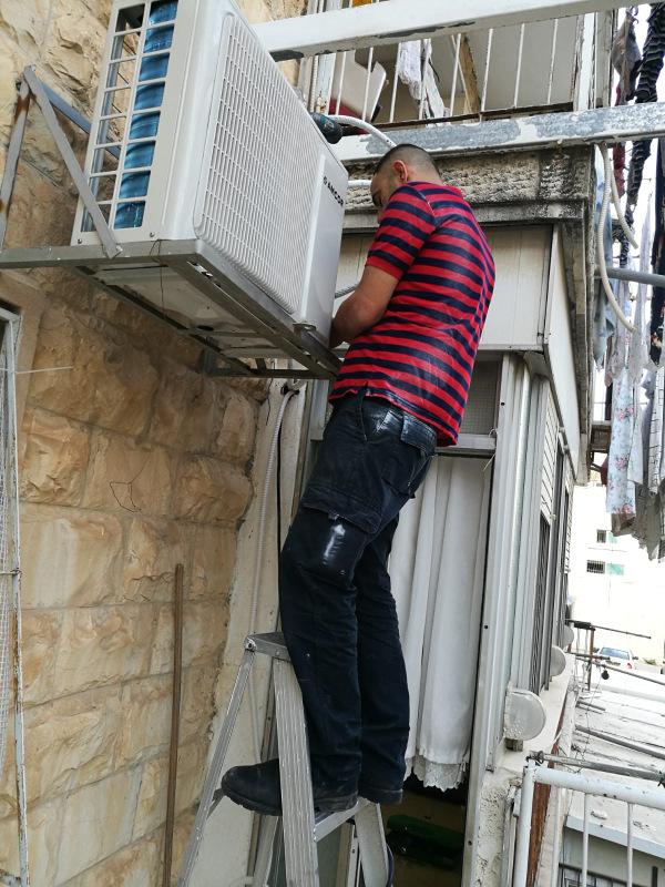 התקנת מזגן בבית מגורים בירושלים